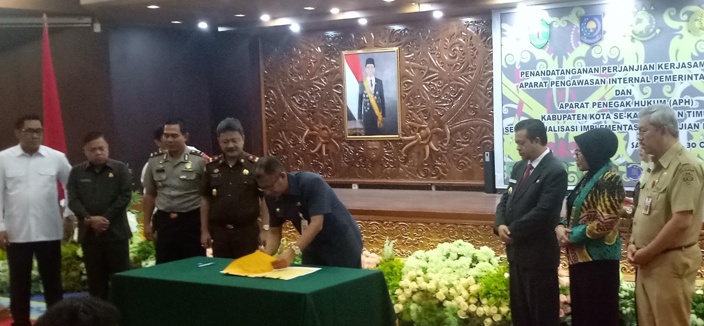 PKS APIP dan APH Ditandatangani, Pemkab Paser Komitmen Berantas Korupsi