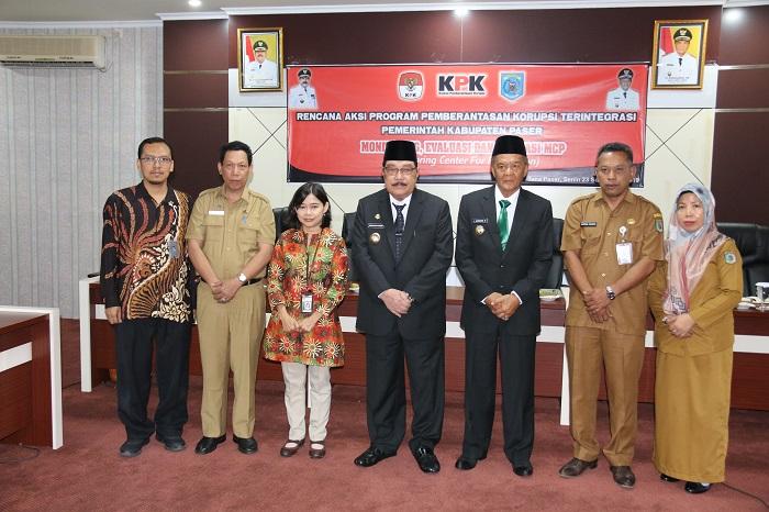 KPK RI Gelar Monev Program Pencegahan Korupsi Terintegrasi di Kabupaten Paser