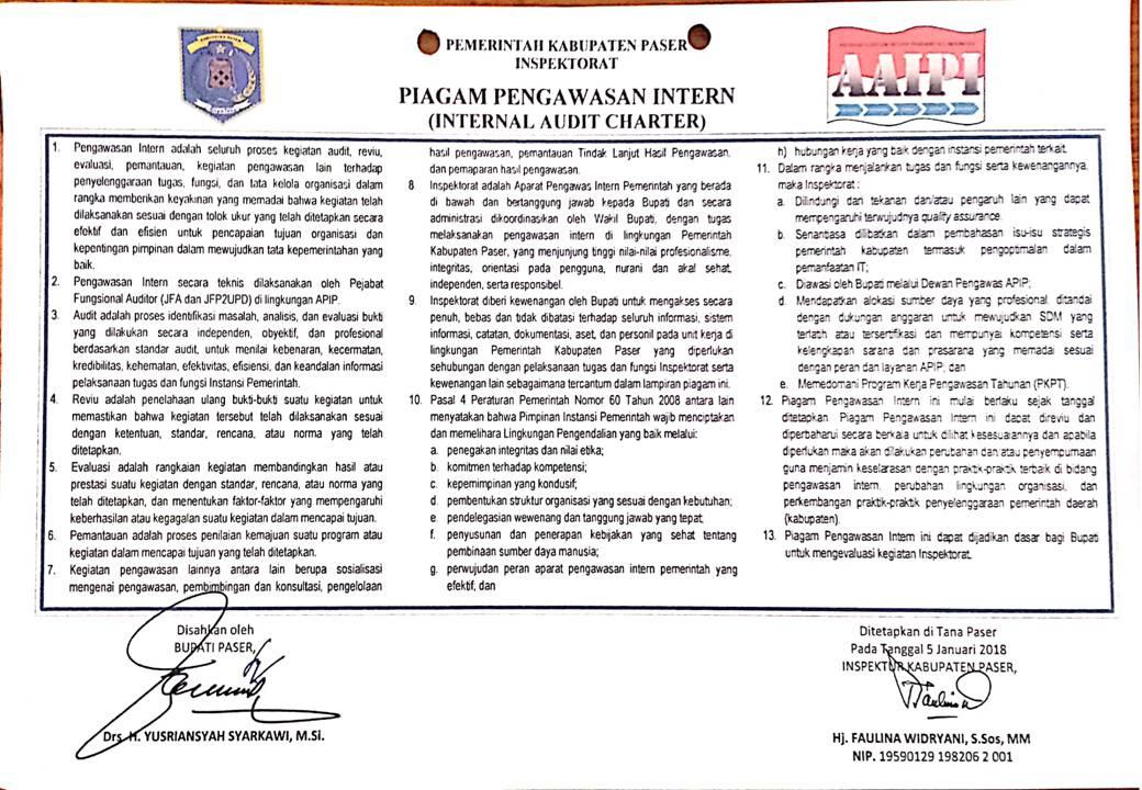 Piagam Pengawasan Intern